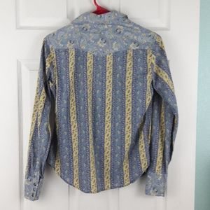 Lucky Brand Tops - Lucky Brand Western Snap Button Shirt Size Small